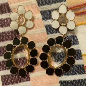 Abstract flower statement earring